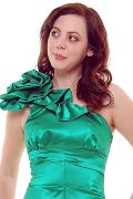 Emerald One Shoulder Mermaid Prom Dress