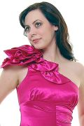 Fuchsia One Shoulder Mermaid Prom Dress