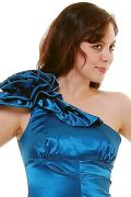 Teal One Shoulder Mermaid Prom Dress